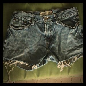 Levi's Vintage Frayed Cut Off Jean Shorts
